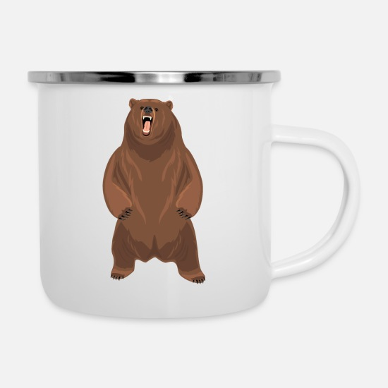 Grizzly Mugs & Drinkware - Grizzly bear - Enamel Mug white