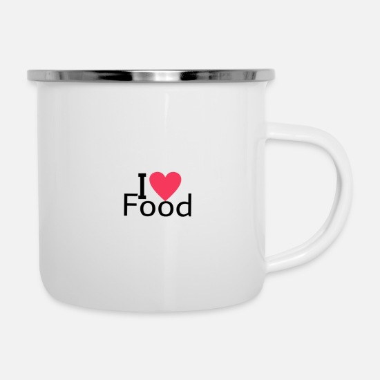 Gift Idea Mugs & Drinkware - Food food - Enamel Mug white