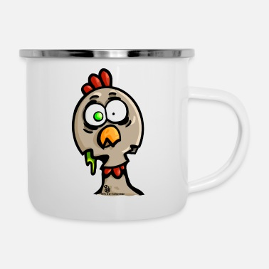 POPELI Zombie Chicken - Tazza smaltata