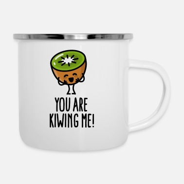 You are kiwing me Kawaii mignon kiwi dessin animé  - Mug émaillé