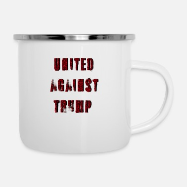 Against united against against trump - Enamel Mug