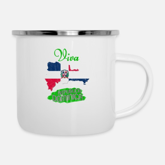 Central America Mugs & Drinkware - Dominican peso nationalism rainforest country - Enamel Mug white