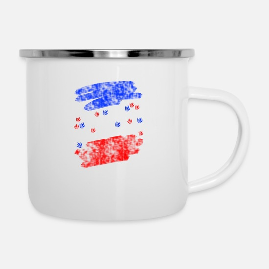 Central America Mugs & Drinkware - rainforest nationalism republic flag caribbean - Enamel Mug white