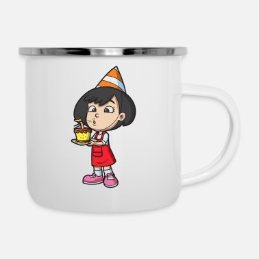 Black & White Children Birthday - Enamel Mug