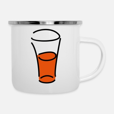 Glass Glass - Enamel Mug