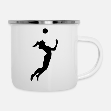 Beach Volleyball Volleyball, Beach Volleyball - Enamel Mug