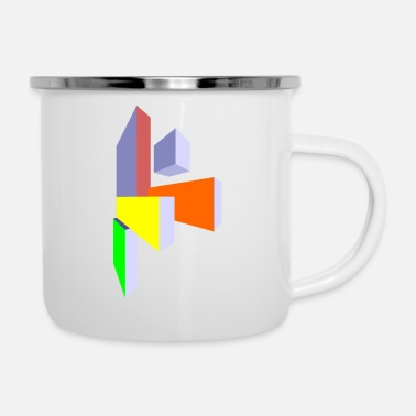 Rectangle rectangles - Enamel Mug