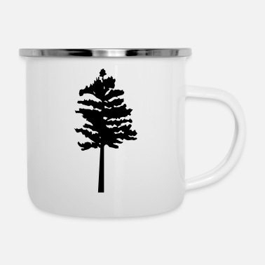 Tree trees - tree - Enamel Mug