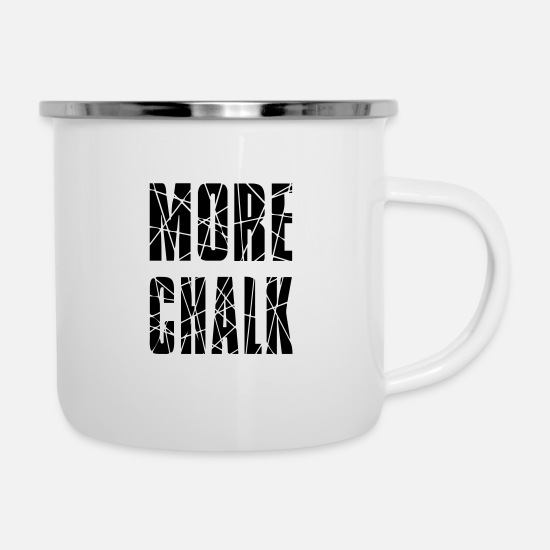Finger Mugs & Drinkware - MORE CHALK - Enamel Mug white