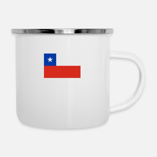 Country Mugs & Drinkware - National Flag Of Chile - Enamel Mug white