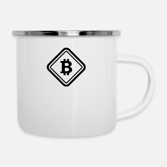 Freestyle Mugs & Drinkware - BTC - Enamel Mug white