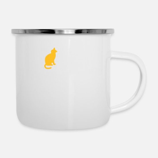 Power Mugs & Drinkware - Macho Quotes: I Eat Cats! - Enamel Mug white