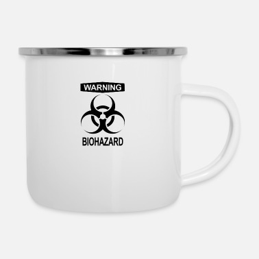 Radioactive WARNING BIOHAZARD Radioactive Chemistry Biology - Enamel Mug