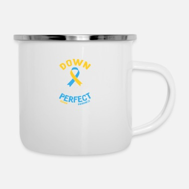 Non Down Right Perfect #DOWNSYNDROMEAWARENESS - Mug émaillé