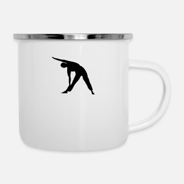 Exercise Yoga exercise - Enamel Mug