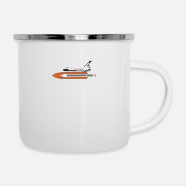 Shuttle Space Shuttle - Emaille-Tasse