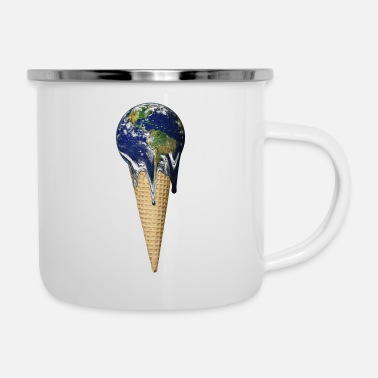 Global Global warming - Enamel Mug