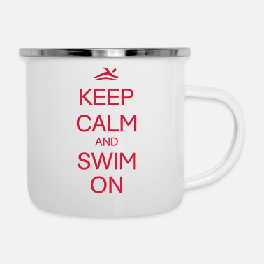 Swim swim on - Enamel Mug