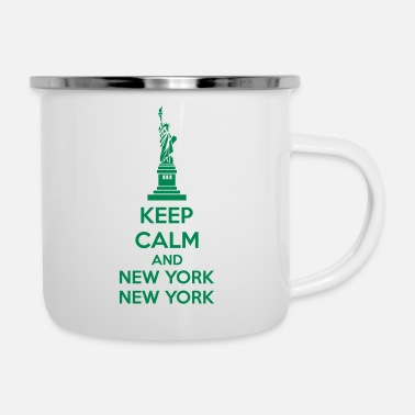 New York Keep Calm And New York New York - Kubek emaliowany