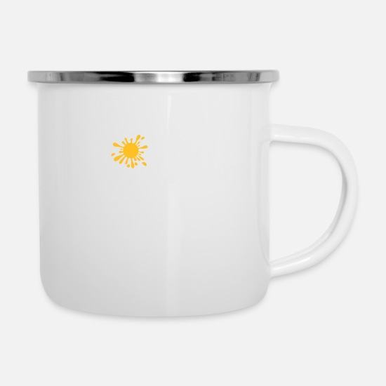 Dirty Mugs & Drinkware - Imagine A Wet T-shirt - Enamel Mug white