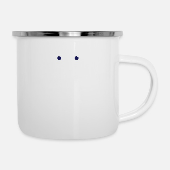 Symbol  Mugs & Drinkware - A Worried Face - Enamel Mug white