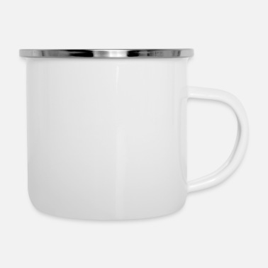 Strip Stripes White - Emaille-Tasse