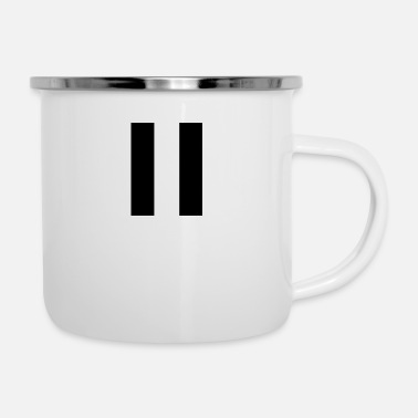 Strip Stripes black - Emaille-Tasse