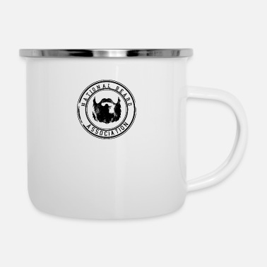 National National Beard Association / Mustache Moustache 1c - Emaille-Tasse