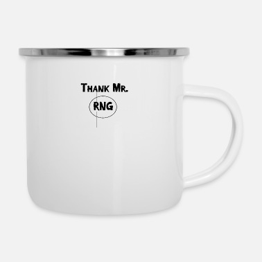 Fps Thank Mr RNG FPS Gamer Black - Emaille-Tasse