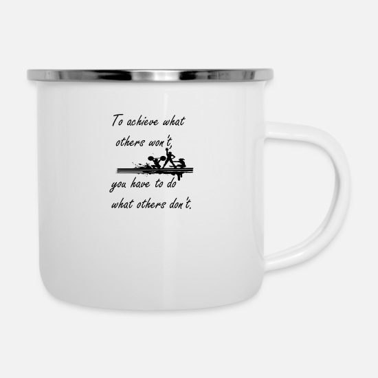 Squat Mugs & Drinkware - Fitness clothing - Enamel Mug white