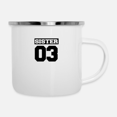 Siblings Sister shirt for siblings - Enamel Mug
