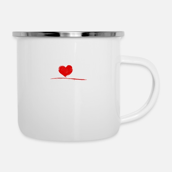 Chess Mugs & Drinkware - Chess - I love chess - Enamel Mug white