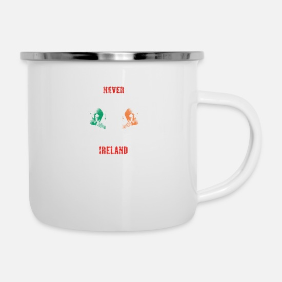 Love Mugs & Drinkware - never underestimate man IRELAND - Enamel Mug white