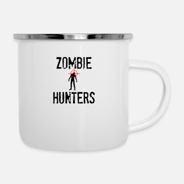 Zombie Zombie Zombie Hunters - Emaille mok