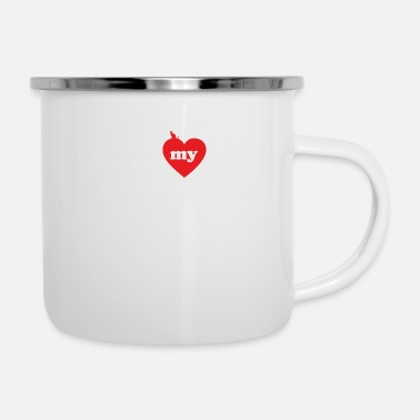 I love fat cats SAFARI CAT - Enamel Mug