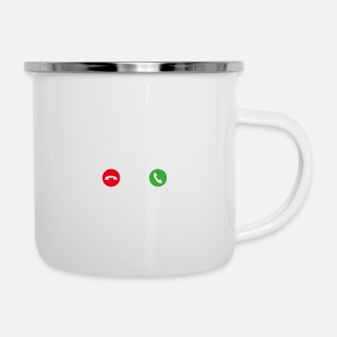 Mobil Call Mobile Anruf yoga - Emaille-Tasse