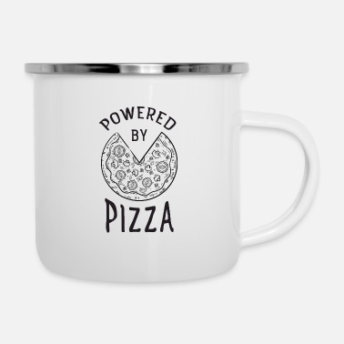 Workout Powered By Pizza - Mug émaillé