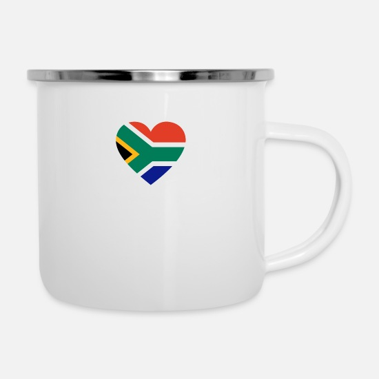 South Africa Mugs & Drinkware - Love love gift south africa south africa - Enamel Mug white
