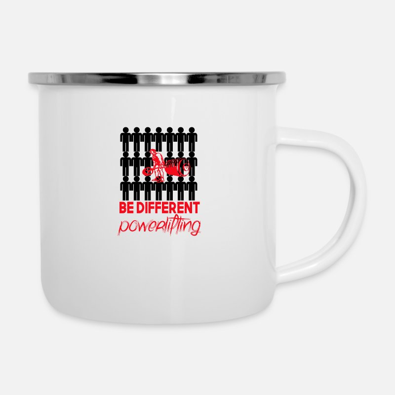 Different Mugs & Drinkware - Be Different - Enamel Mug white