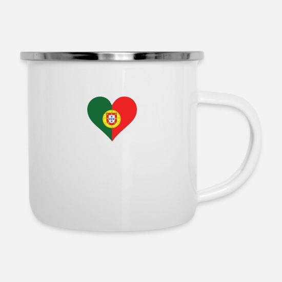 Country Mugs & Drinkware - A Heart For Portugal - Enamel Mug white