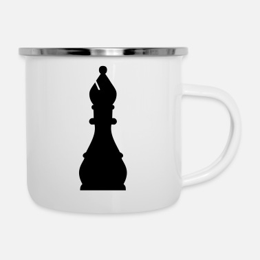 Bishop chess bishop - Enamel Mug