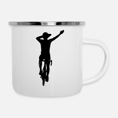 Dub dubbing cyclist - THE DUB BICYCLE DRIVER - Enamel Mug