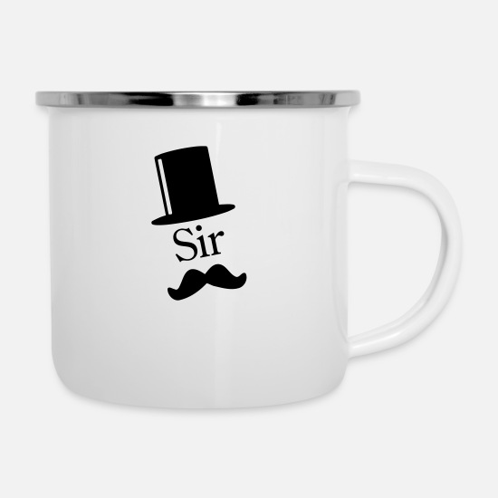 Like A Boss Tassen & Becher - Like a Sir 1c - Emaille-Tasse Weiß