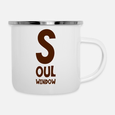 Windows Soul Window English saying lettering gift - Emaille mok