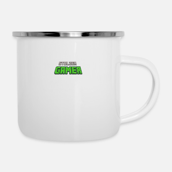 New Mugs & Drinkware - proud gamer - Enamel Mug white