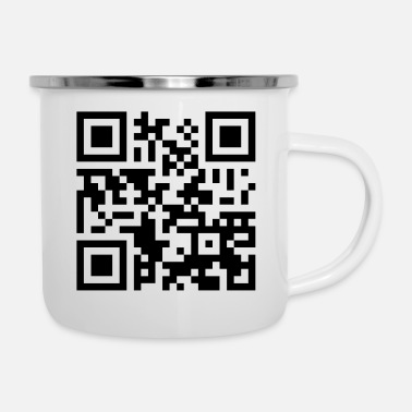 Offensive Offensive QR-Code - Emaille-Tasse