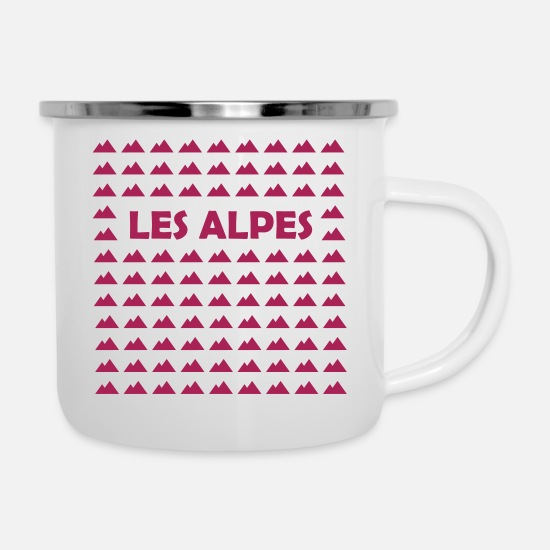 Alps Mugs & Drinkware - The Alps - Enamel Mug white