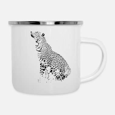 Leopardo leopardo - Tazza smaltata