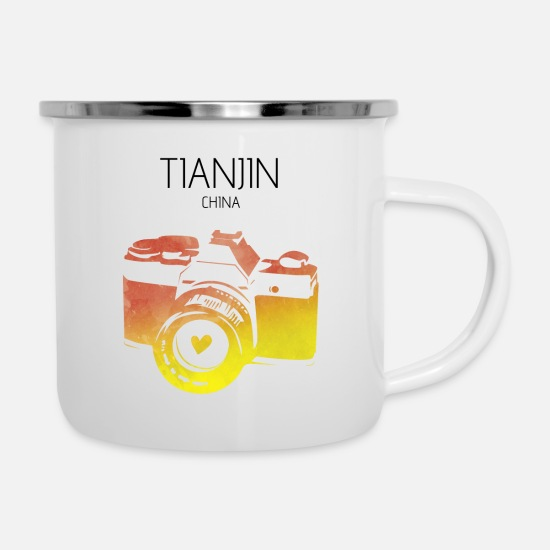 Travel Mugs & Drinkware - China, Tianjin - Enamel Mug white