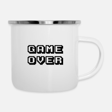 Arcade Game Over Black - Enamel Mug